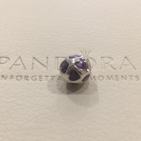 1ad2ac66e Pandora Jewelry | Authentic Purple Heart Charmretired | Poshmark